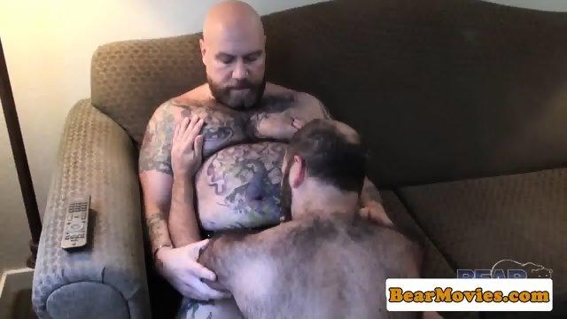 Chubby bear sixtynining heavy mature
