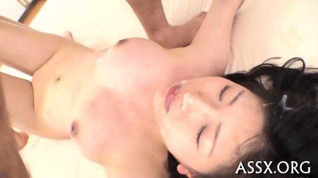 Explicit Asian blowbang - scene 10