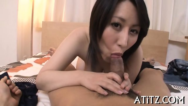 Wet blowjob from busty Japanese - scene 9