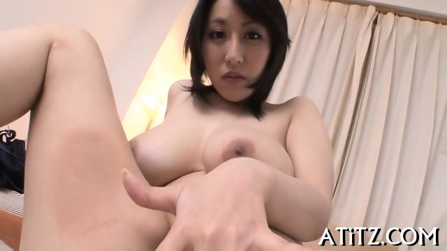 Wet blowjob from busty Japanese - scene 5