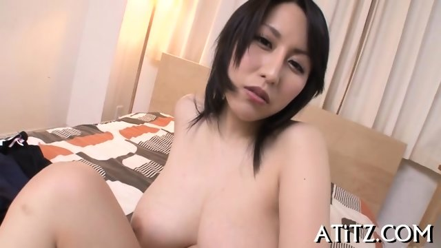 Wet blowjob from busty Japanese - scene 7