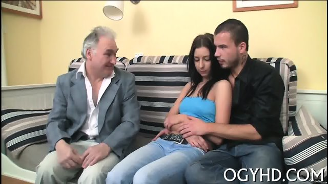 Nice young babe rides old rod - scene 7