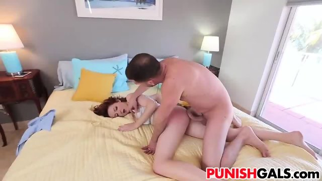 Teen Leigh Rose gets disciplined by stepdad - scene 5
