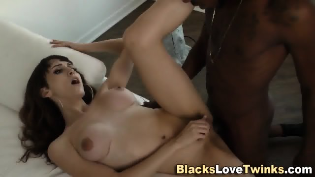 Shemale Rides Black Cock