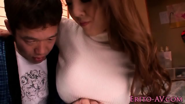 Cockhungry hugetitted japanese model pounded