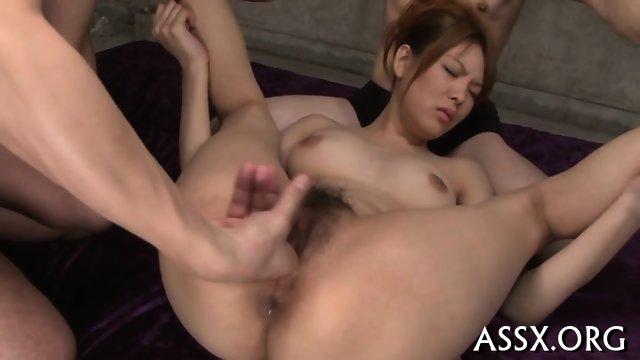 Thrilling Asian threesome sex