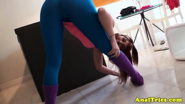 Redhead yoga girlfriend assfucked