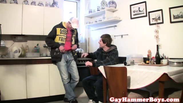 Euro amateur twink giving head for cash