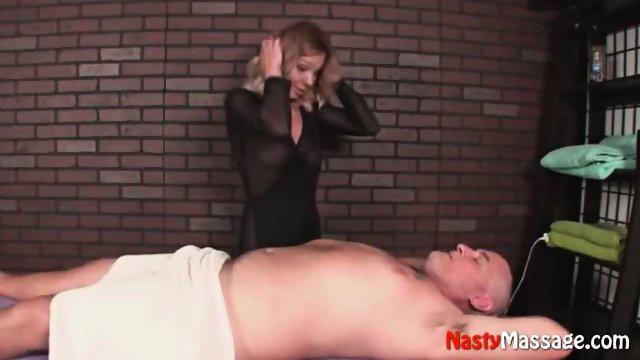 Blonde Jennet Turns Starts With A Massage