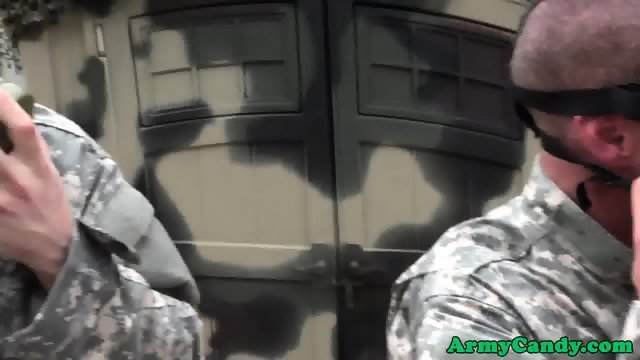 Gay private soldiers analfucked in group