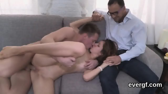 Indebted fella allows unusual friend to poke his exgf for dollars - scene 2
