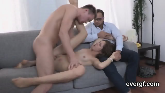 Indebted fella allows unusual friend to poke his exgf for dollars - scene 7
