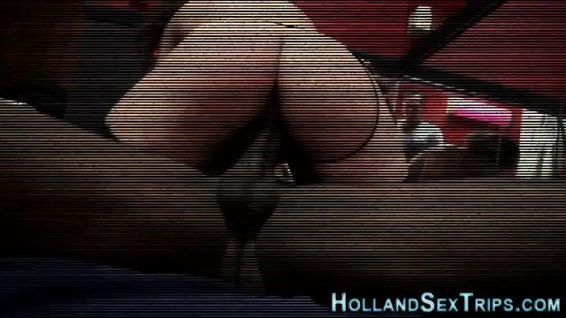 Euro hooker swallows cum - scene 8