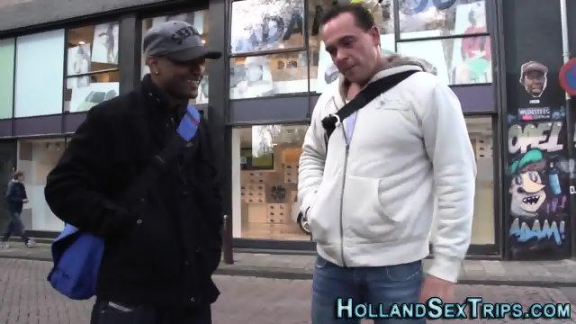 Euro hooker swallows cum - scene 1