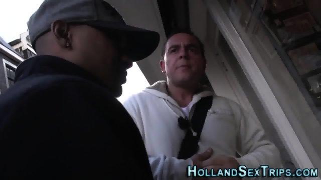 Euro hooker swallows cum - scene 2