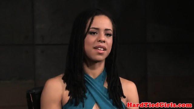 Ebony sub throat and pussy fucked by master - scene 1