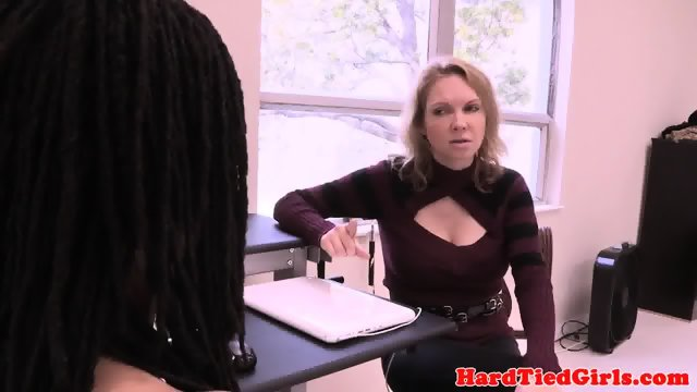 Ebony sub throat and pussy fucked by master - scene 3