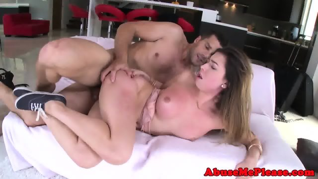 Cockhungry slut throating cock intensely - scene 12
