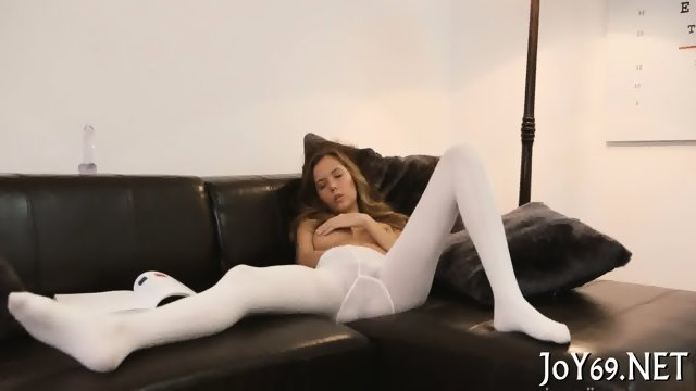 Teen girl plays with her pussy - scene 6