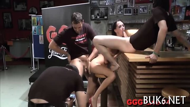 Blow bang with thick jizzum - scene 9
