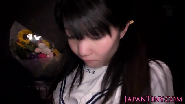 Nippon tiny schoolgirl grinded between thighs - scene 5