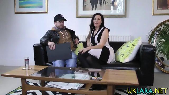Stockings brit rides cum