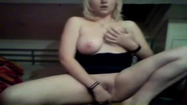 Blonde Masturbates
