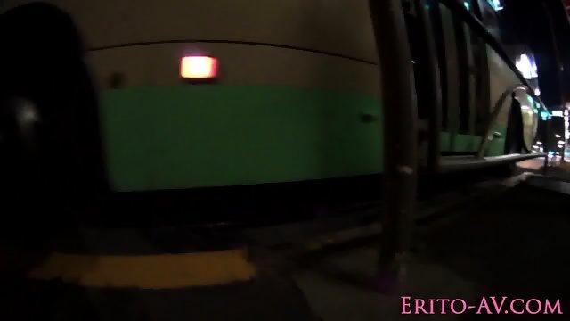 Asian slut cocsucks till cum while in public - scene 2