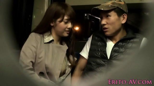 Asian slut cocsucks till cum while in public - scene 6