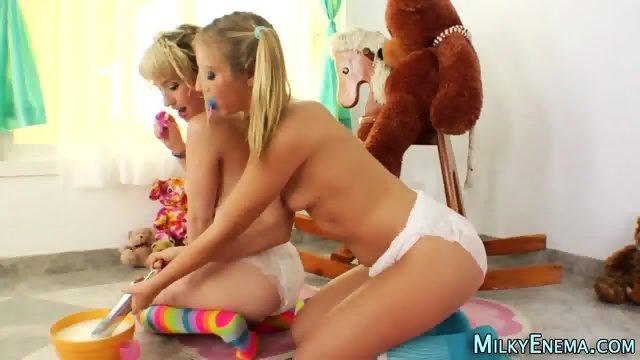 Lesbian eats milky ass - scene 10