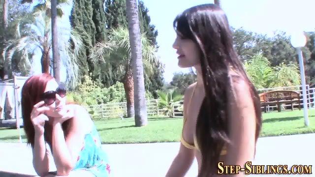 Ginger stepsister licking - scene 1