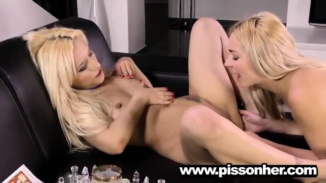 Puppy drinking pee with a hot girlfriend - scene 8