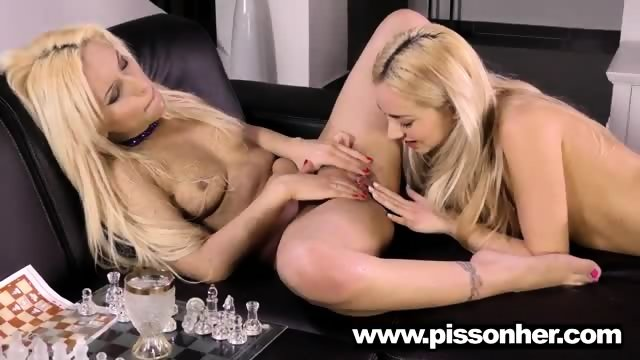 Puppy drinking pee with a hot girlfriend - scene 6