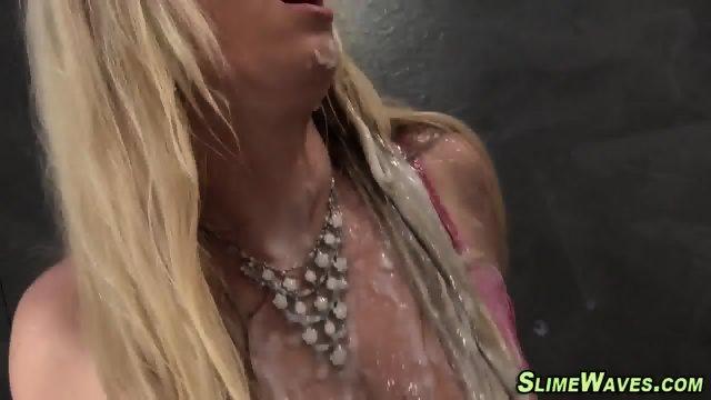 Gloryhole ho masturbates - scene 6