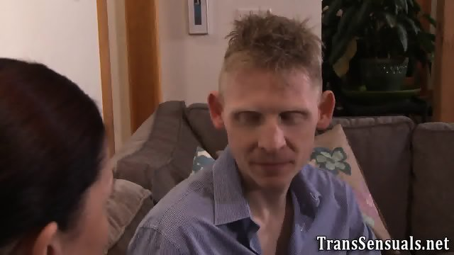 Trans babe rimmed in 3way - scene 2