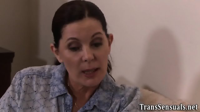 Trans babe rimmed in 3way - scene 3