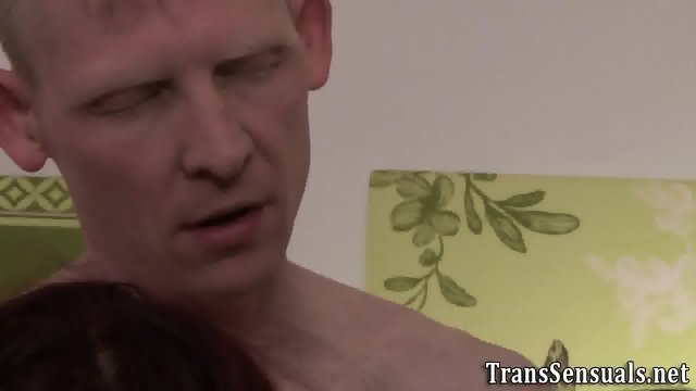 Trans babe rimmed in 3way - scene 7