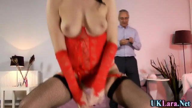Stockings brit creampie - scene 1