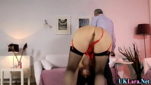 Stockings brit creampie - scene 3