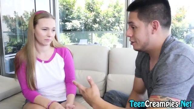 Bendy teen gets creampied - scene 3