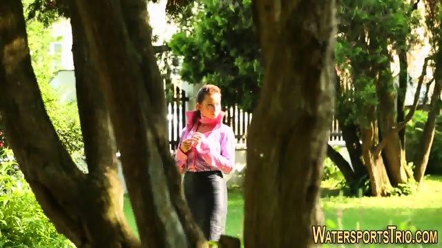 Whore gets goldenshower - scene 1