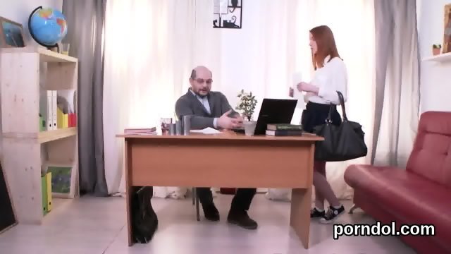 Erotic college girl gets tempted and fucked by her aged lecturer