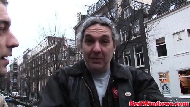 Doggystyled amsterdam hooker fucks tourist