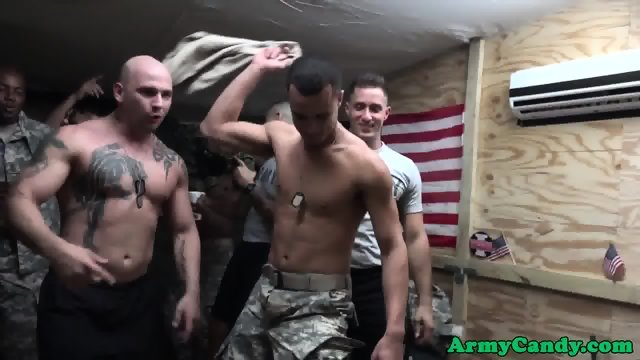 White soldier fucked by black military meat