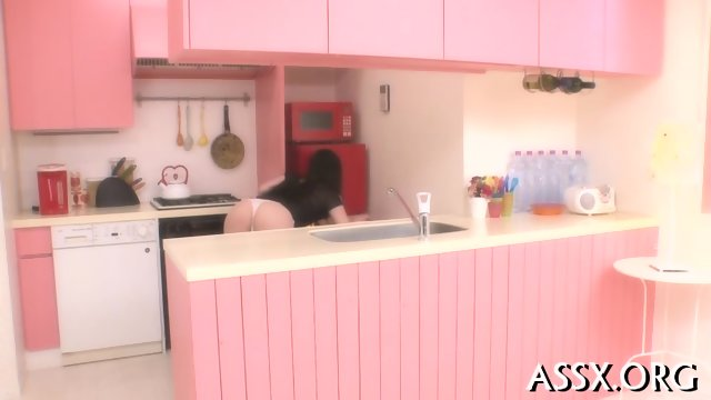 Erotic Asian pussy shaving and anal sex - scene 1