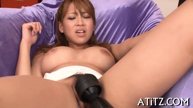 Exciting fingering for big tits Asian - scene 12
