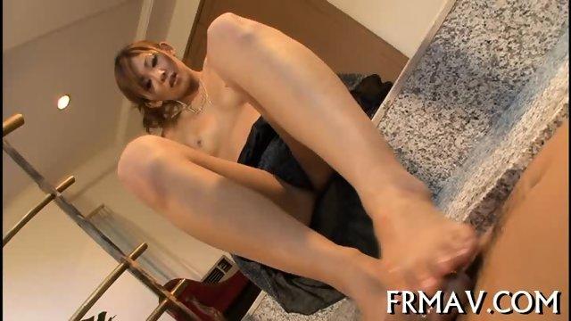 Hot fellatio from skinny Japanese - scene 9