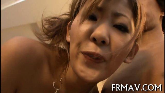 Hot fellatio from skinny Japanese - scene 3