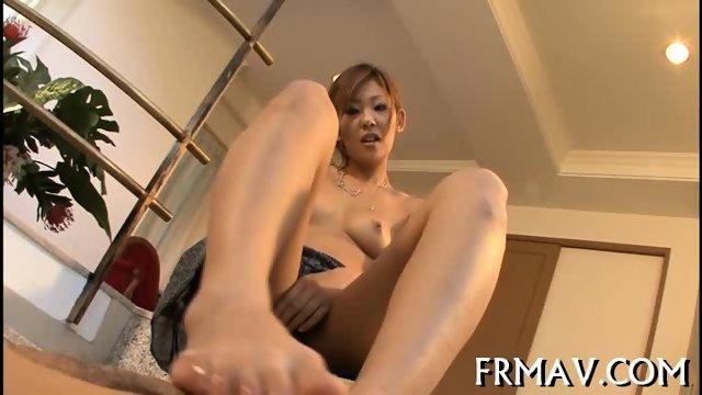 Hot fellatio from skinny Japanese - scene 4