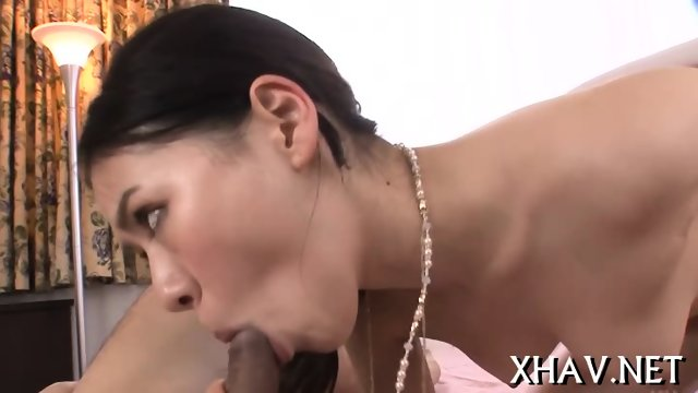Guy strips hot Asian - scene 3